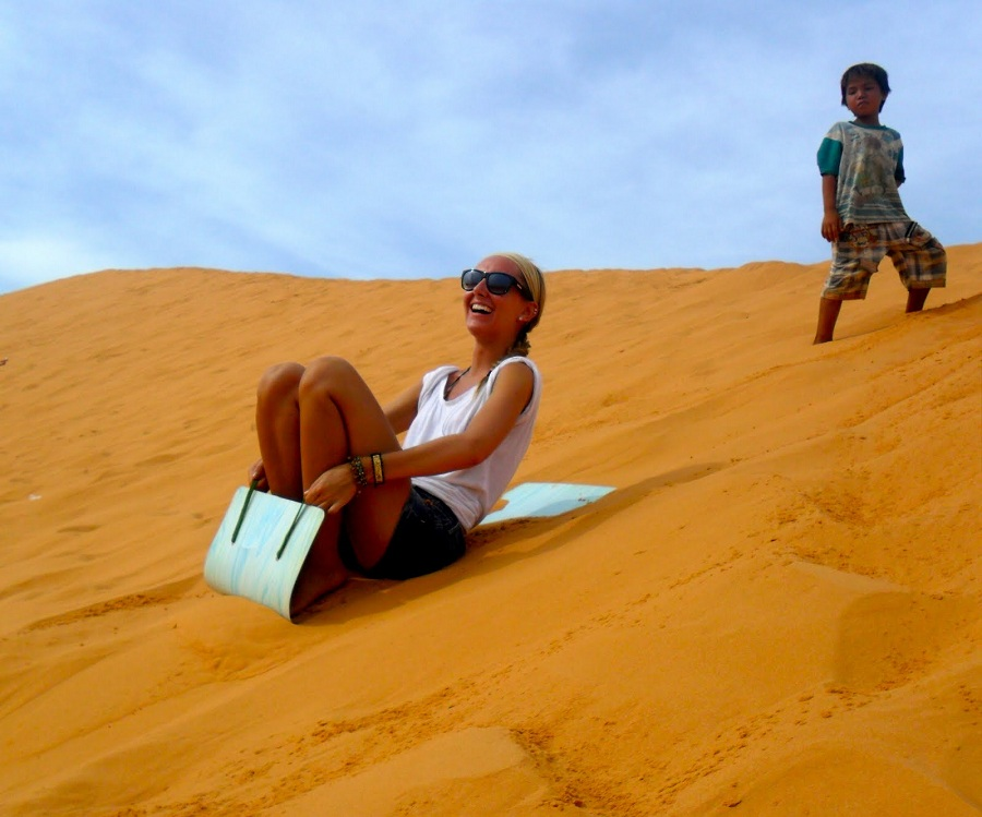 red sand dunes in mui ne tour from ho chi minh city