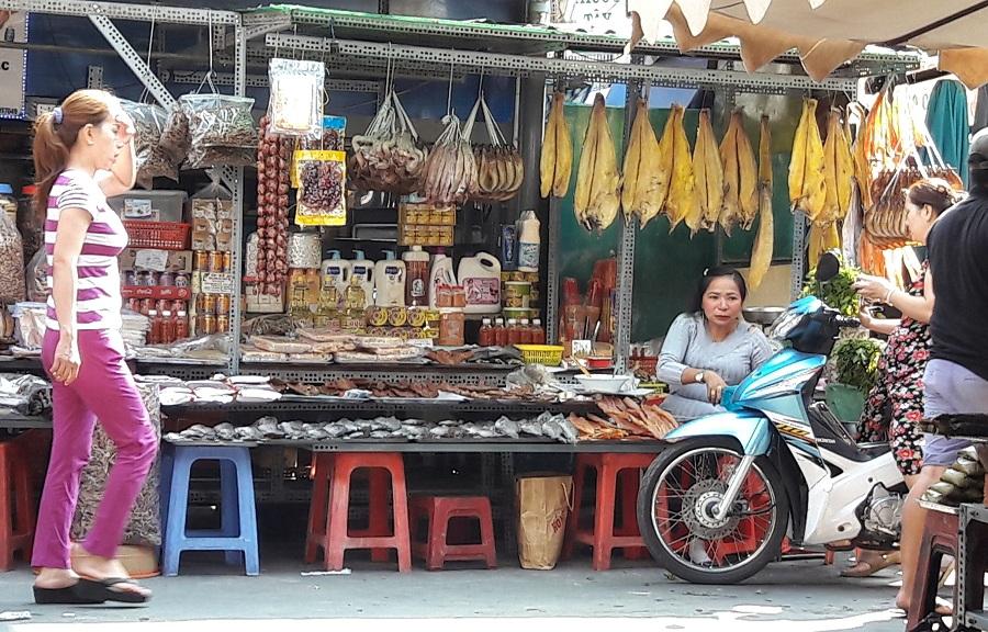 cambodian market in saigon