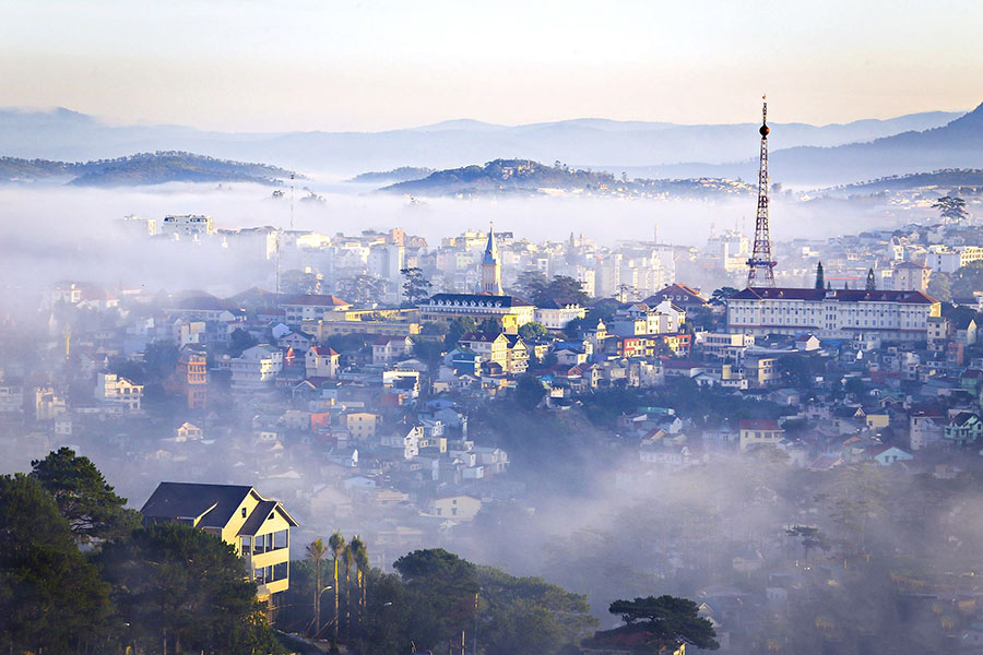 view of dalat tour package from ho chi minh city
