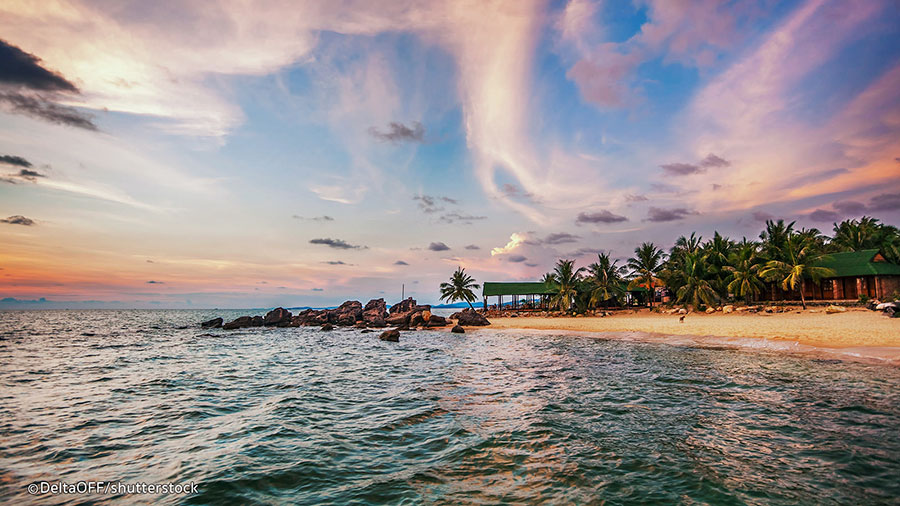 sunset in Phu Quoc island tour package