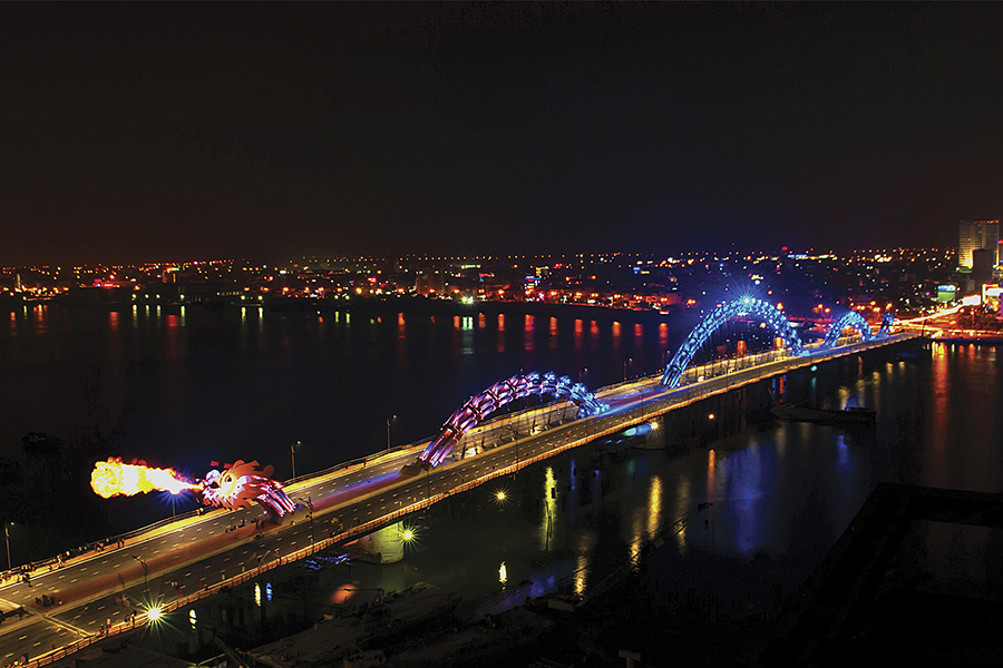 danang city at night time