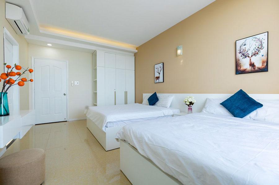phòng ngủ căn hộ du lịch vũng tàu