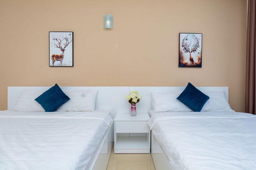 phòng ngủ 2 giường căn hộ du lịch vũng tàu