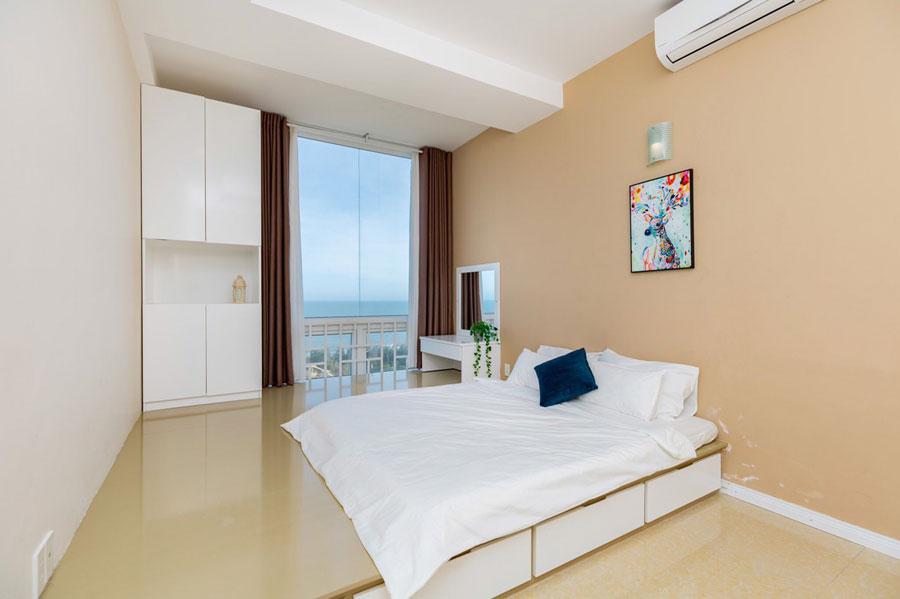 phòng ngủ view biển căn hộ du lịch vũng tàu